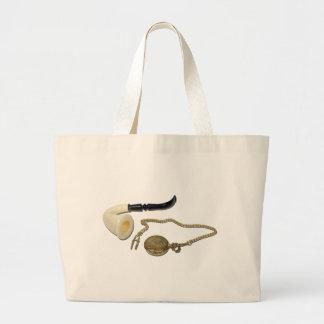 CalabashPipePocketWatch102410 Jumbo Tote Bag