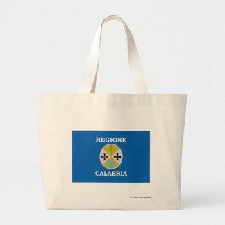 Calabria flag large tote bag