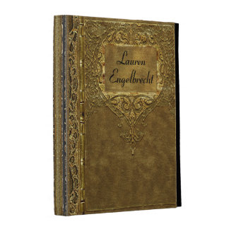 Calabria Old Book Style Personalize iPad Folio Case