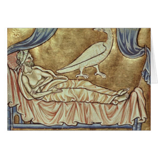 Caladrius bird, reputed to foretell greeting card