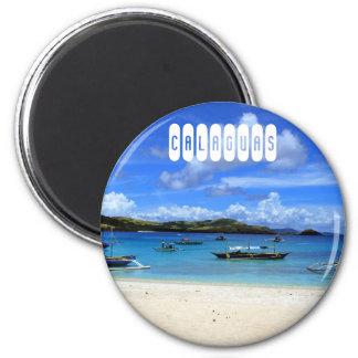 Calaguas Beach 6 Cm Round Magnet