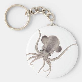Calamari Basic Round Button Key Ring