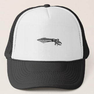 Calamari (squid) trucker hat