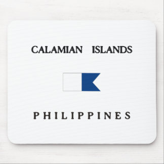 Calamian Islands Philippines Alpha Dive Flag Mousepads