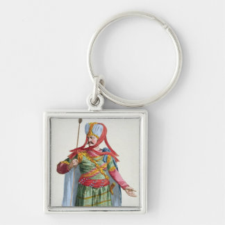 Calamin-Han, Emperor and Sovereign of Asia from 'R Silver-Colored Square Key Ring