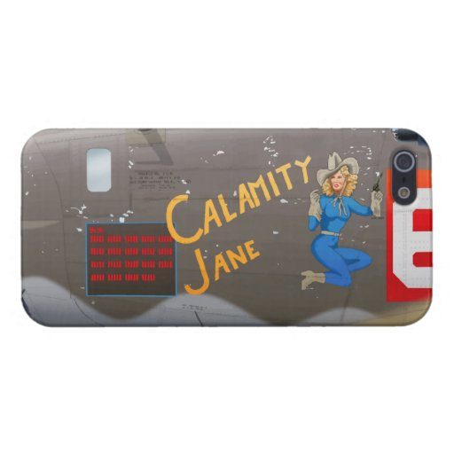Calamity Jane B-24 Nose Art (Vintage Fuselage) Cover For iPhone 5