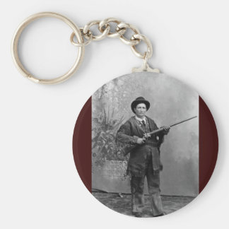 Calamity Jane Portrait Basic Round Button Key Ring