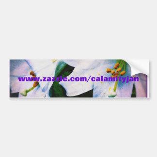 Calamityjan lilies bumper sticker