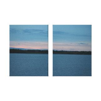 Calamus Lake Sunrise Canvas Print