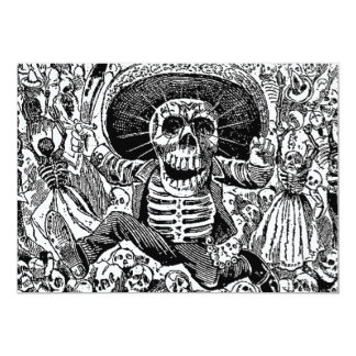 Calavera Day of the Dead 13 Cm X 18 Cm Invitation Card