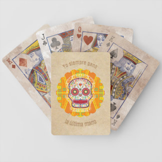 Calavera. Day of the Dead Mexican Sugar Skull Bicycle Playing Cards
