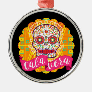 Calavera. Day of the Dead Mexican Sugar Skull Christmas Ornament