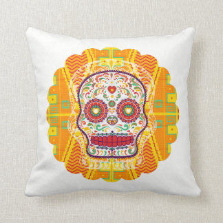Calavera. Day of the Dead Mexican Sugar Skull Cushion