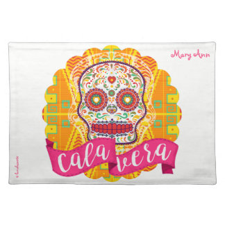 Calavera. Day of the Dead Mexican Sugar Skull Placemat