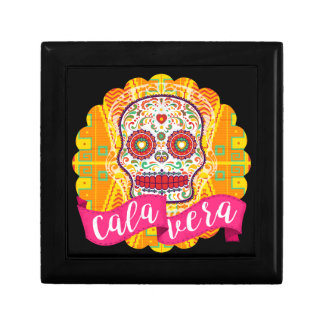 Calavera. Day of the Dead Mexican Sugar Skull Small Square Gift Box