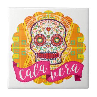 Calavera. Day of the Dead Mexican Sugar Skull Small Square Tile