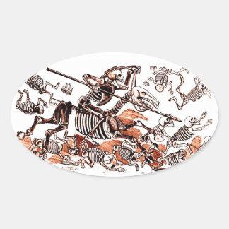 Calavera Don Quijote Sticker