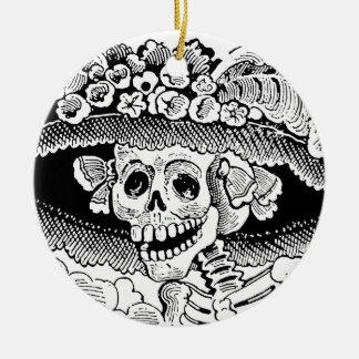 Calavera Garbancera (Catrina) by José Posada Christmas Ornament