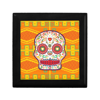 Calavera II. Day of the Dead Mexican Sugar Skull Small Square Gift Box