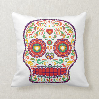 Calavera (III) Day of the Dead Mexican Sugar Skull Cushion