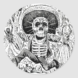 Calavera Oaxaqueña by José Guadalupe Posada 1903 Round Sticker