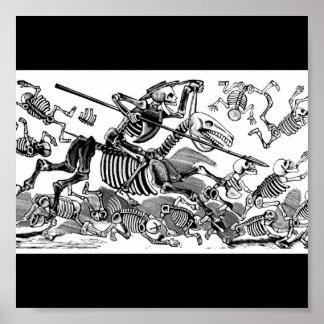 Calavera of Don Quixote circa early 1900 s Print