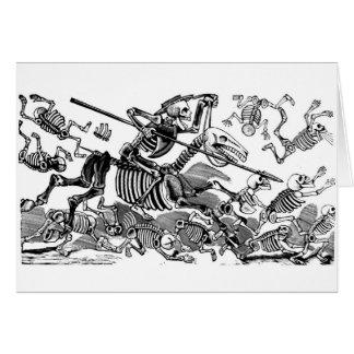 """Calavera of Don Quixote"" circa early 1900's Greeting Card"