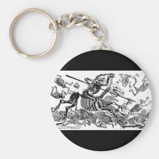 """Calavera of Don Quixote"" circa early 1900's Key Ring"