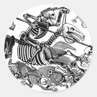 """""""Calavera of Don Quixote"""" circa early 1900's Stickers"""