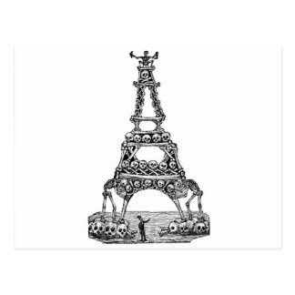 Calavera of the Eiffel Tower c late 1800 s Post Cards