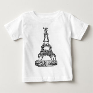 Calavera of the Eiffel Tower c. late 1800's Baby T-Shirt