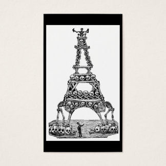 Calavera of the Eiffel Tower c. late 1800's Business Card