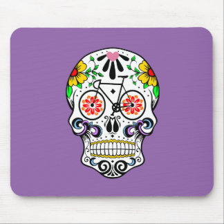 Calavera - Sugar Skull Bike Mouse Pad