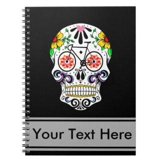Calavera - Sugar Skull Bike Spiral Note Book
