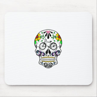 Calavera - Sugar Skull Cruiser Bike Mouse Pad