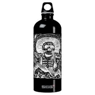 Calavera Uaxaquena black on black Liberty Bottle SIGG Traveller 1.0L Water Bottle