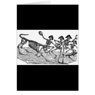 Calaveras at the Running of the Bulls c. 1800's Greeting Card