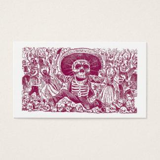 Calaveras Or Skull Profile Cards