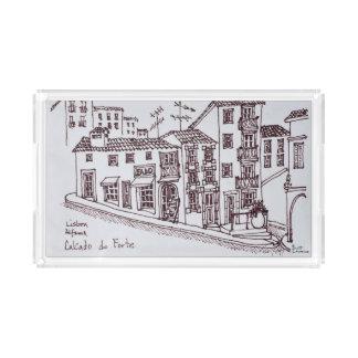 Calcada do Forte, Alfama | Lisbon, Portugal Acrylic Tray