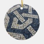 Calcada Portuguesa, Portuguese Pavement Round Ceramic Decoration