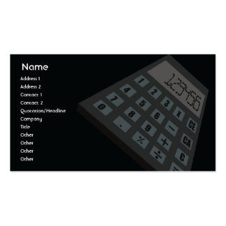 Calculator - Business Business Card