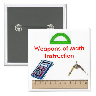 calculator, compass, protractor1, ruler, Weapon... 15 Cm Square Badge