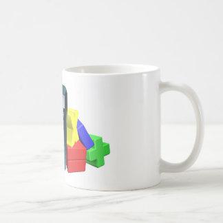 Calculator man math symbols mugs
