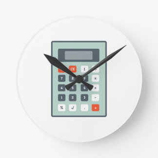 Calculator Round Clock