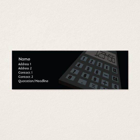 Calculator - Skinny Mini Business Card
