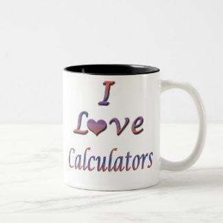 calculators Two-Tone mug