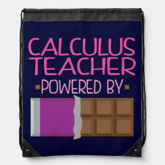 Calculus Teacher Chocolate Gift for Woman Drawstring Backpacks