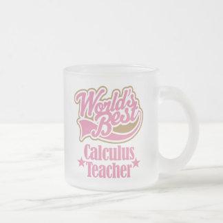 Calculus Teacher Gift (Worlds Best) Frosted Glass Mug