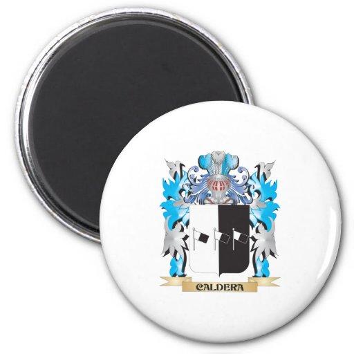 Caldera Coat of Arms - Family Crest Fridge Magnets