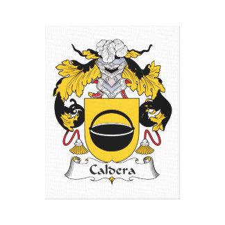 Caldera Family Crest Gallery Wrap Canvas